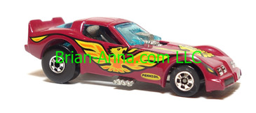 Hot Wheels Firebird Funny Car, Enamel Magenta, Blackwall wheels, Malaysia base, loose