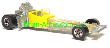 Hot Wheels Odd Rod, Yellow, Blackwall wheels, Hong Kong base, loose
