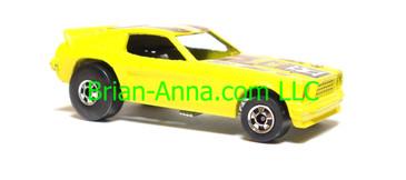 Hot Wheels 1970's Show Hoss II, Light Yellow, Blackwall wheels, Hong Kong base, loose