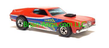 Hot Wheels Thrill Drivers Torino, Red, blackwall wheels, Hong Kong base, loose