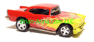 Hot Wheels '57 Chevy, Red, Chrome Pc5 wheels, China base, loose