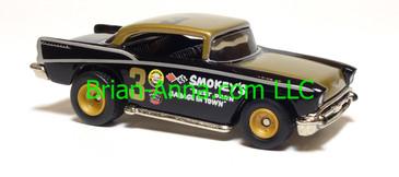 Hot Wheels '57 Chevy, Gold/Black, Real Riders, China base, loose