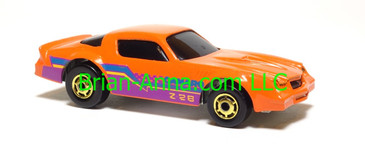 Hot Wheels Camaro Z28, Orange, hogd wheels, Malaysia base, loose