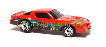 Hot Wheels Camaro Z28, Red, UH wheels, Malaysia base, loose