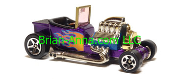 Hot Wheels T-Bucket, Purple with Flames, sp5 wheels, China base, loose