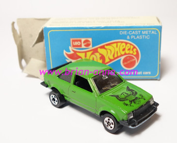 Hot Wheels Leo India Mattel Ford Escort, Dark Green, Black Eagle tampo