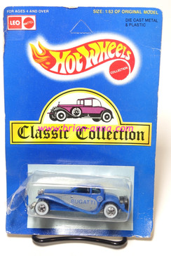 Hot Wheels Leo India Mattel '37 Bugatti with Gray side panels, blisterpack