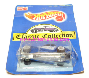Hot Wheels Leo India Mattel '37 Bugatti with White side panels, blisterpack