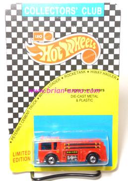 Hot Wheels Leo India Mattel Fire Eater, Red, Chrome base, blisterpack