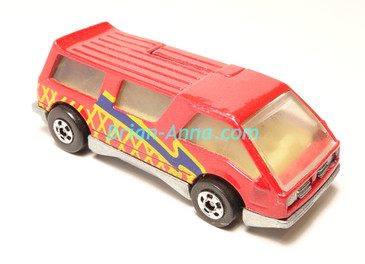 Hot Wheels Leo India Mattel Dream Van, Red with Yellow/Blue tampo, loose