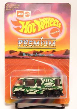 Hot Wheels Leo India Mattel GMC Motor Home, Military Transport, blisterpack