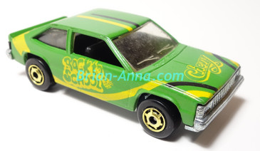 Hot Wheels Leo India Mattel Green Chevy Citation with Yellow Back to School tampo, hogd wheels,  loose