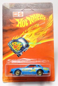 Hot Wheels Leo India Mattel Datsun 200SX in Blue with Lazer artwork tampo