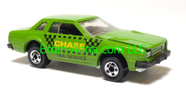 Hot Wheels Leo India Mattel Datsun 200SX in Medium Green with Chase Taxi Service artwork tampo, loose