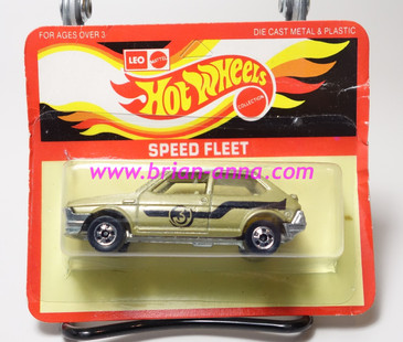 Hot Wheels Leo India Mattel Fiat Ritmo, Gold, hood/roof tampo, BW wheels, blisterpack