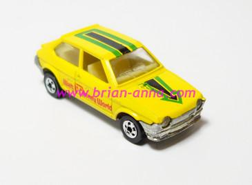 Hot Wheels Leo India Mattel Fiat in Yellow, Walt Disney tampo, BW wheels, loose