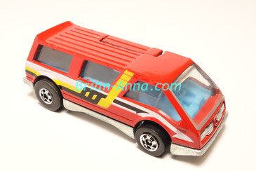 Hot Wheels Leo India Mattel Dream Van, Red with 3-color side tampo, BW wheels, loose