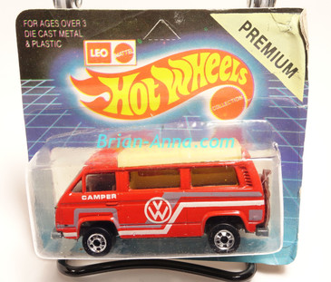 Hot Wheels Leo India Mattel VW Sunagon, Red enamel, White/Gray tampo on side, BW wheels, unpunched blisterpack