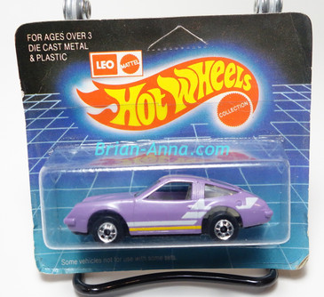 Hot Wheels Leo India Mattel Chevy Monza, Purple/Lavender in color, White/Yellow, tampo on side, BW wheels, unpunched blisterpack