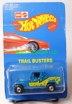 Hot Wheels Leo India Mattel Jeep Scrambler, Blue, Yellow/Black tampo on side, BW wheels, unpunched blisterpack
