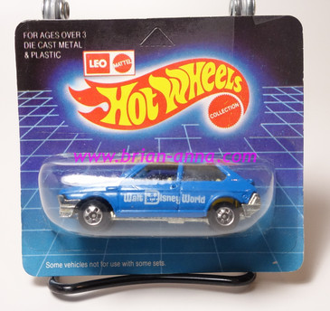 Hot Wheels Leo India Mattel Fiat in Blue, Walt Disney tampo in White, BW wheels, unpunched blisterpack