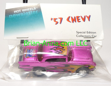 Hot Wheels 2006 20th Convention, '57 Chevy, metalflake Pink, Real Riders, baggie - only 80 in this color were made for the 20th convention.