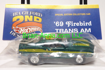 Hot Wheels 2006 20th Convention, '69 Firebird Trans-Am, Green, Dinner Prize car, Real Riders, baggie
