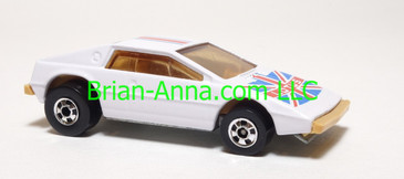 Hot Wheels Royal Flash, White w/beige/white interior, France on base, loose