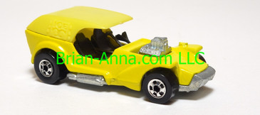 Hot Wheels Made in France Ice T, enamel yellow paint with yellow roof, blackwall wheels, loose