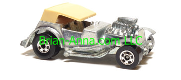 Hot Wheels Sir Rodney Roadster from France, Bare Metal, Tan roof, blackwall wheels, France base, loose