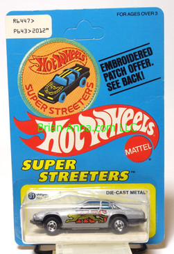 Hot Wheels Patch Card Jaguar XJS, Gray, blackwall wheels
