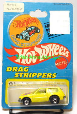 Hot Wheels Patch Card Packin Pacer, Yellow, blackwall wheels