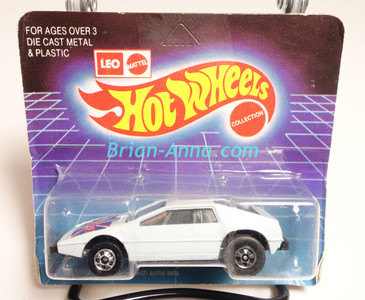 Hot Wheels Leo India Mattel Royal Flash in White, BW wheels, blisterpack