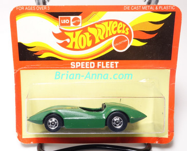 Hot Wheels Leo India Mattel Second Wind in Green, blackwall wheels, blisterpack