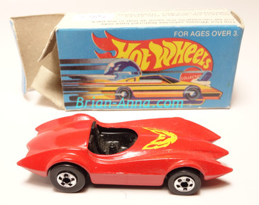 Hot Wheels Leo India Mattel Second Wind in Red, blackwall wheels, box