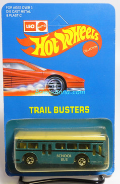 Hot Wheels Leo India Mattel Single Decker Bus, Blue, blackwall wheels, blisterpack