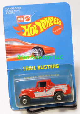 Hot Wheels Leo India Mattel Jeep Scrambler in Red, blackwall wheels, blisterpack