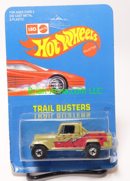 Hot Wheels Leo India Mattel Jeep Scrambler in Dirty Gold??, blackwall wheels, blisterpack