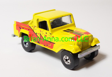 Hot Wheels Leo India Mattel Jeep Scrambler in Yellow, blackwall wheels loose