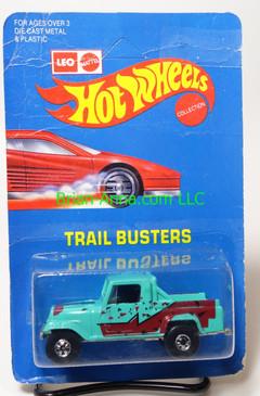 Hot Wheels Leo India Mattel Jeep Scrambler in Aqua, blackwall wheels, blisterpack