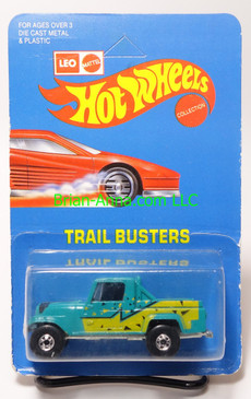 Hot Wheels Leo India Mattel Jeep Scrambler in Aqua, blackwall wheels, blisterpack