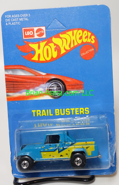 Hot Wheels Leo India Mattel Jeep Scrambler in Blue, blackwall wheels, blisterpack
