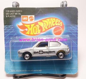 Hot Wheels Leo India Mattel Fiat in Silver, blackwall wheels, blisterpack
