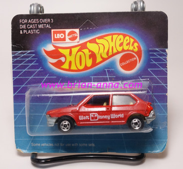 Hot Wheels Leo India Mattel Fiat in Red, blackwall wheels, blisterpack