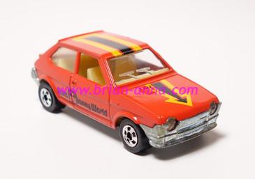 Hot Wheels Leo India Mattel Fiat in Red, blackwall wheels, loose