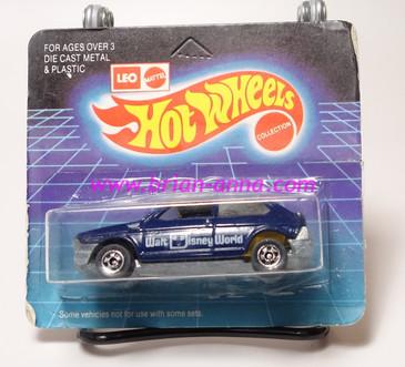 Hot Wheels Leo India Mattel Fiat in Dark Blue, blackwall wheels, blisterpack