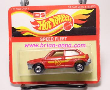 Hot Wheels Leo India Mattel Fiat in Red, blackwall wheels, blisterpack