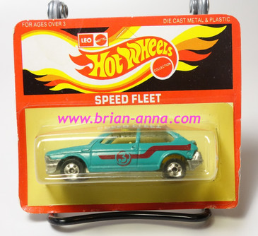 Hot Wheels Leo India Mattel Fiat in Aqua, blackwall wheels, blisterpack