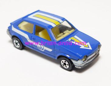 Hot Wheels Leo India Mattel Fiat in Blue, blackwall wheels, loose