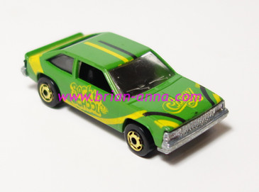 Hot Wheels Leo India Mattel Chevy Citation in Green, hogd wheels, loose